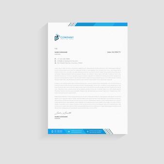 Modèle de conception de papier à en-tête d'entreprise moderne premium