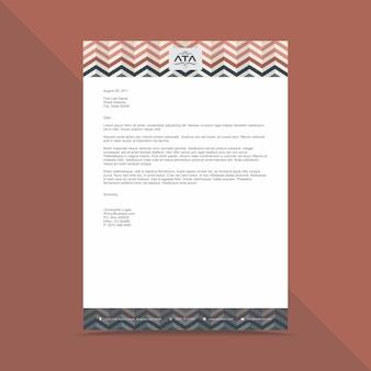 Modèle de conception de papier à en-tête d'entreprise