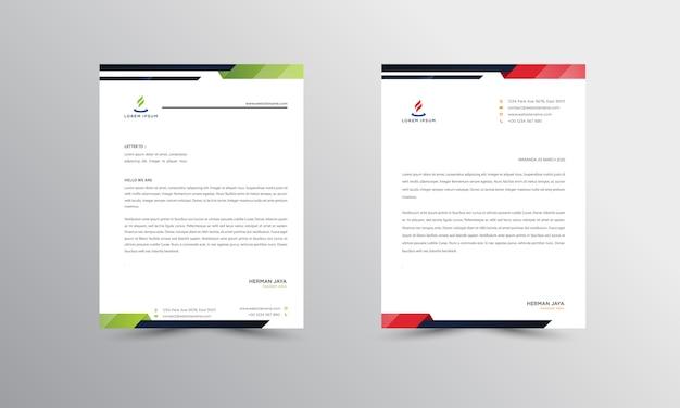 Modèle de conception de papier à en-tête moderne