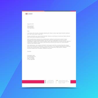 Modèle de conception de papier à en-tête professionnel