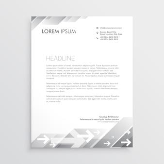 Modèle de conception de papier à en-tête propre gris