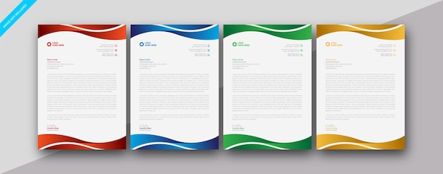 Modèle de conception de papier à en-tête de taille a4 pour entreprise d'entreprise moderne et élégant
