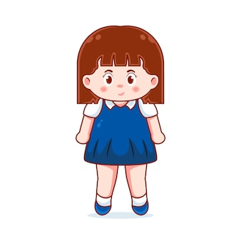 Modèle de conception de personnage de petite fille