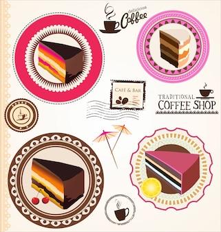 Modèle de conception de petit gâteau mignon