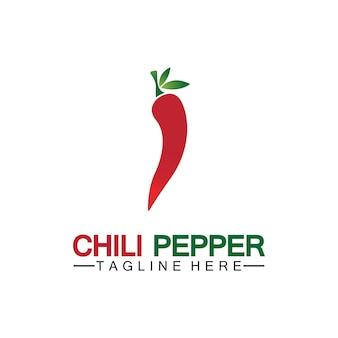Modèle de conception de piment logo icône vector illustration