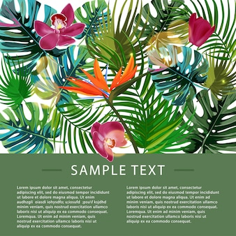Modèle de conception de plantes tropicales.