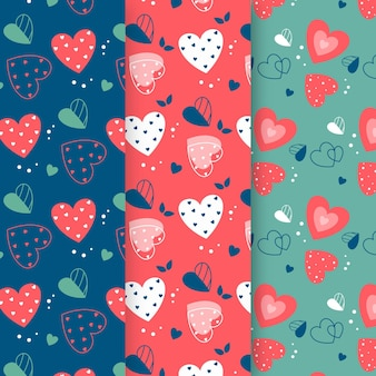 Modèle de conception plate motif coeur