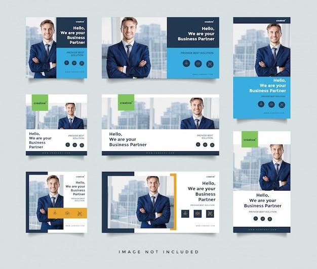 Modèle de conception de poste de médias sociaux d'entreprise