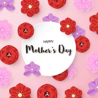 Modèle de conception pour la bonne fête des mères. illustration vectorielle en papier découpé et style artisanal.