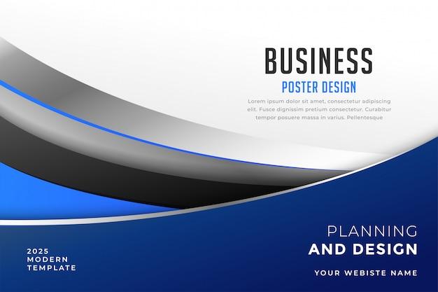 Modèle de conception de présentation de couverture d'entreprise moderne