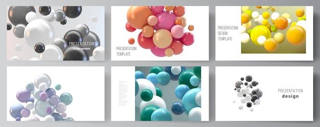 Modèle de conception de présentation professionnelle avec des ballons