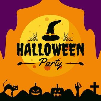 Modèle de conception de promotion instagram de publication de médias sociaux halloween