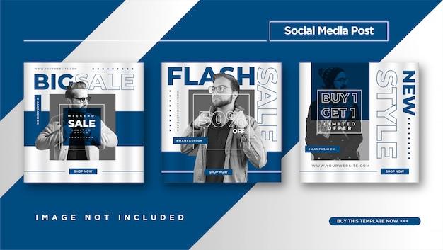 Modèle de conception de publication instagram ou médias sociaux