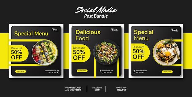 Modèle de conception de publication de médias sociaux pour la promotion