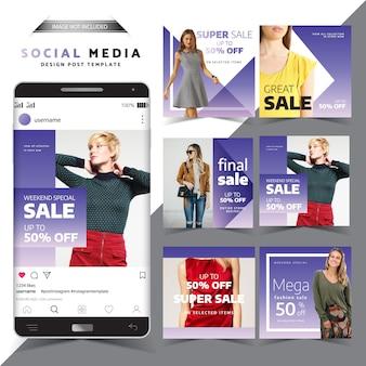 Modèle de conception de publication de médias sociaux en vente spéciale