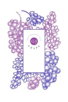 Modèle de conception de raisin.
