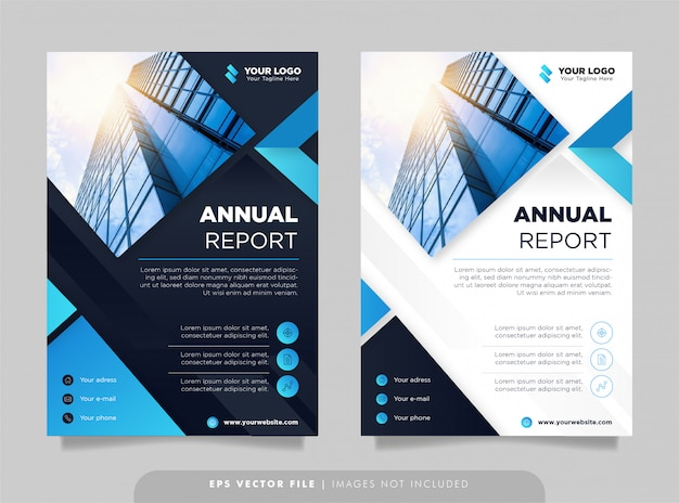 Modèle de conception de rapport annuel créatif.