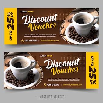 Modèle de conception de remise de bon cadeau café
