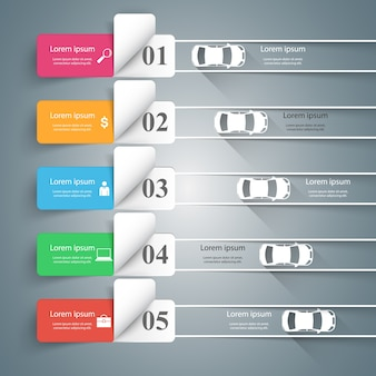 Modèle de conception routière infographique