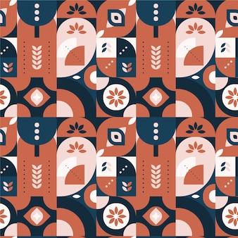 Modèle de conception scandinave plat coloré