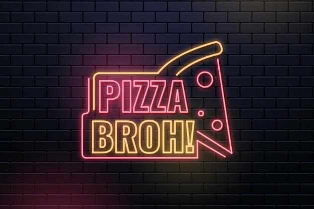 Modèle de conception de signe de pub et de restaurant au néon