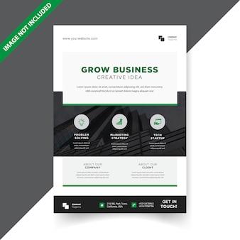 Modèle de conception simple flyer d'entreprise
