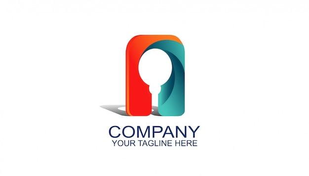 Modèle de conception avec un style moderne, logo abstrait