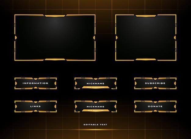Modèle de conception de superposition de panneau de streaming twitch