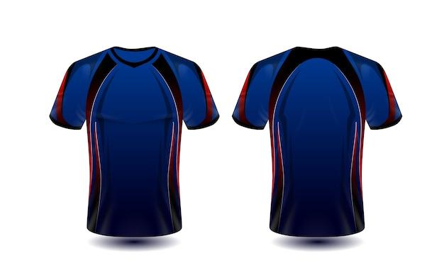 Modèle de conception t-shirt rouge et noir mise en page e-sport