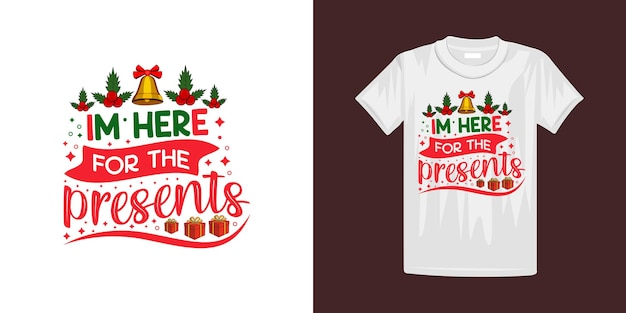 Modèle de conception de t-shirt de typographie de noël. bon pour les t-shirts, les tasses, les cadeaux et autres impressions.