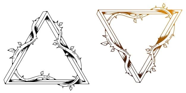 Modèle de conception de tige triangulaire