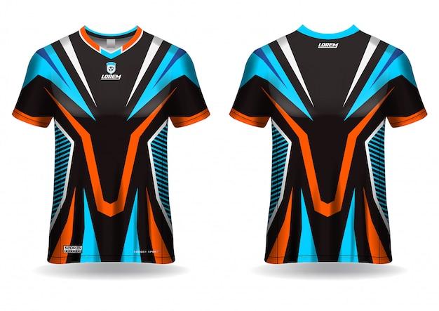Modèle de conception de tshirt en jersey de sport