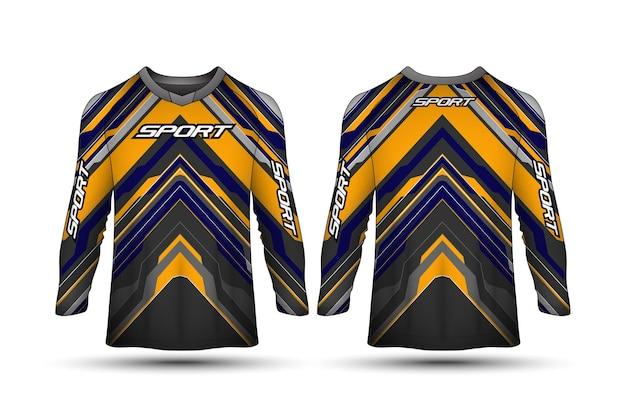 Modèle de conception de tshirt à manches longues conception de chemise de maillot de moto de sport de course