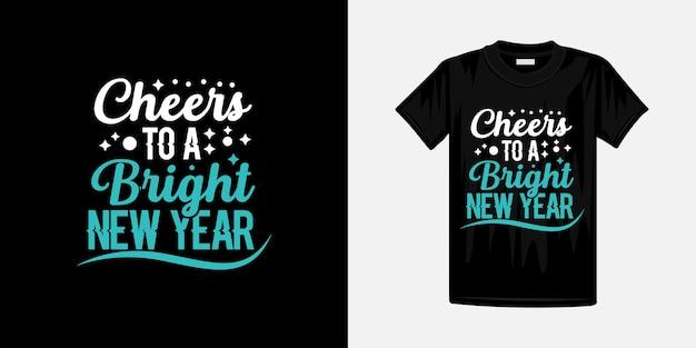 Modèle de conception de typographie du nouvel an. prêt pour t-shirt, tasse, cadeau et autres impressions.