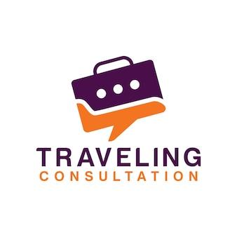 Modèle de conception de vacances de logo de voyage