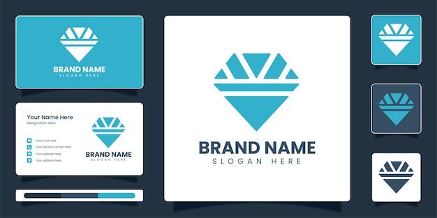 Modèle de conception de vecteur d'identité d'entreprise de logo de bijoux de diamant