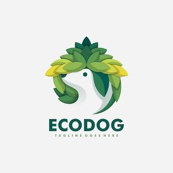 Modèle de conception vecteur illustration chien eco concept