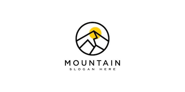 Modèle de conception de vecteur de logo de montagne