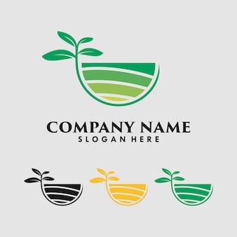 Modèle de conception de vecteur de logo nature