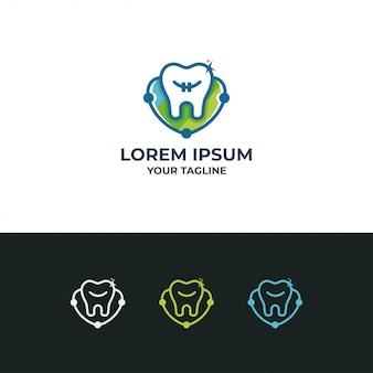 Modèle de conception de vecteur de logotype dentaire