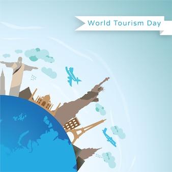 Modèle de conception de vecteur pour la journée mondiale du tourisme