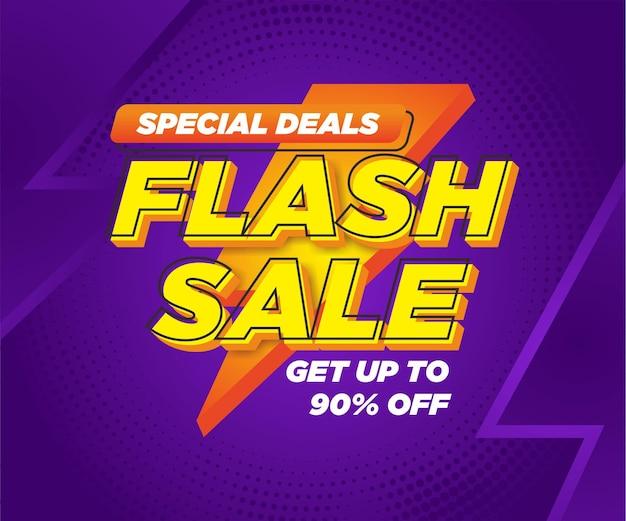 Modèle de conception de vecteur de promotion de post promotion de vente flash