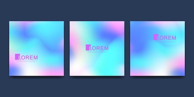 Modèle de conception vectorielle dans des couleurs dégradées vibrantes à la mode avec des formes fluides abstraites, des éclaboussures de peinture, des gouttes d'encre. affiches futuristes, bannières, brochures, dépliants et conceptions de couverture. forme 3d fluide abstraite.