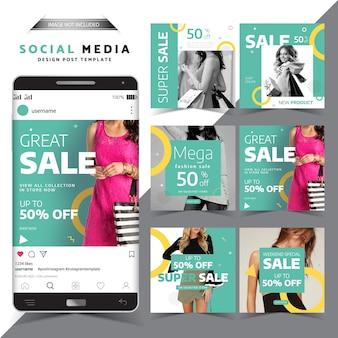 Modèle de conception de vente de médias sociaux great sale