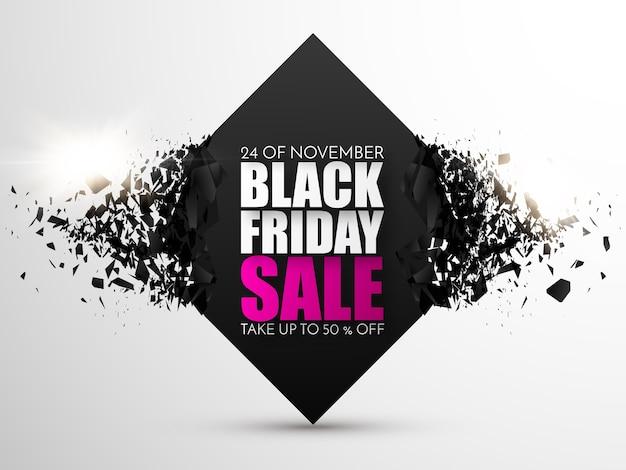 Modèle de conception de vente vendredi noir