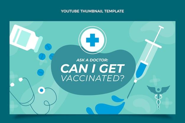 Modèle de conception de vignette youtube médical plat