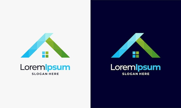 Modèle de conceptions de logo de maison moderne, vecteur d'icône d'application immobilière