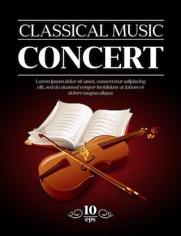 Modèle de concert de musique classique