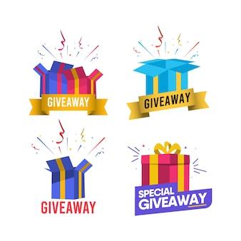 Modèle de concours de médias sociaux giveaway.
