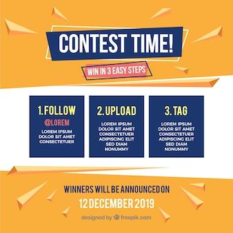 Modèle de concours de médias sociaux